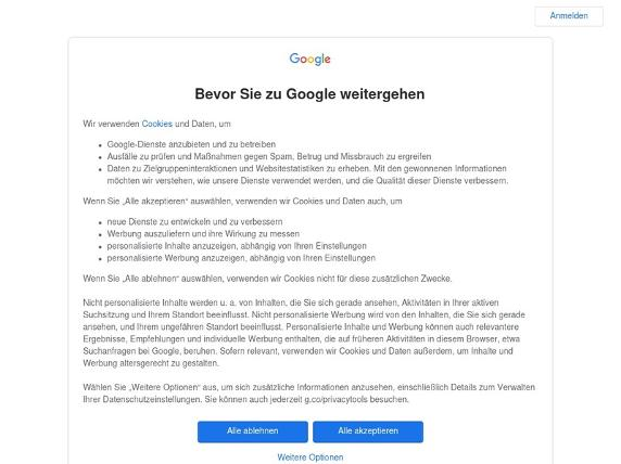 Screenshot von http://maps.google.de